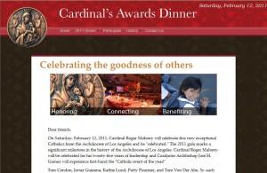 2011 Cardinal's Awards Dinner Website
