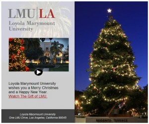 LMU Alumni Appeal Message for Christmas 2010
